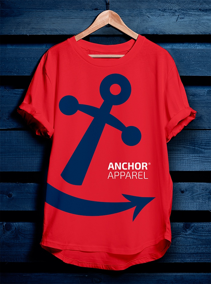 Playera roja Anchor Apparel
